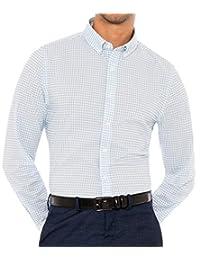 Evolved Kent 男式干爽吸濕排汗襯衫 - 4 向彈力男式系扣襯衫 長袖 - 抗皺 - 格子