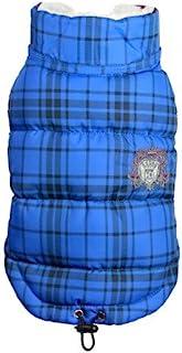 Hip Doggie HD 5PDSB 格子羽绒背心外套,XS 码,蓝色