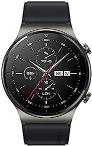HUAWEI WATCH GT 2 Pro 智能手表,1.39 英寸 AMOLED 高清触摸屏,2 周电池寿命,GPS 和 GLONASS,SpO2,100+ 锻炼模式,蓝牙通话,听力监测,夜黑色