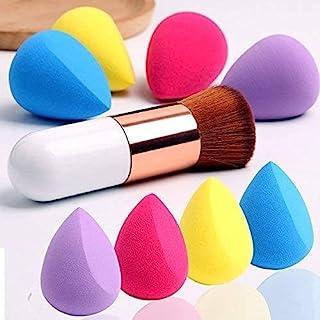 4 件套化妆海绵套装 Blender Beauty Foundation 混合海绵 液体、奶油和粉末 多色化妆海绵