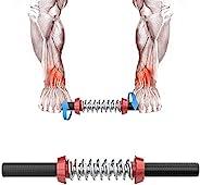 手腕滚轮,肌肉强度前臂锻炼设备,带手柄,适用于篮球运动员、手腕和前臂冲击波,用于训练、锻炼、健身