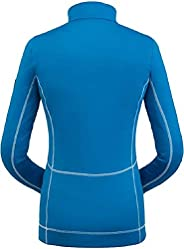 Spyder 女式 Savona 拉链 T 领 – 女式套头衫长袖活力衬衫