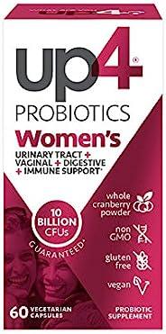 up4 女性高级护理益生元素食胶囊 | 支持阴道+吸收+抵抗能力* | 250亿个CFU | Non-GMO,无麸质,素食主义者 | 60粒