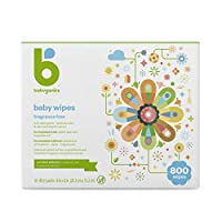 Babyganics Fragrance-Free Face Hand and Baby Wipes, 100 ct, (Pack of 8)