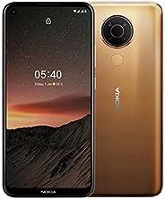 Nokia 诺基亚 5.4 智能手机,带 6.39 英寸高清+ 显示屏,4 GB 内存,128 GB 内存,48 MP 四倍摄像头,高通骁龙 662,2 天电池续航时间和安卓*,双卡午夜太阳