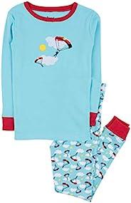 Leveret 兒童與學步兒童睡衣男孩女孩中性款兩件套睡衣套裝 * 純棉睡衣(12 個月-14 歲)