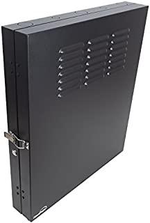 NavePoint 2U 低调垂直壁挂式箱 50.8 厘米开关深度配线面板橱柜黑色