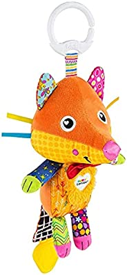 LAMAZE Flannery the Fox 婴儿玩具,夹式婴儿推车玩具和婴儿车玩具,带婴儿牙胶,新生儿感官玩具,适合 0-6 个月大的婴儿