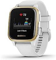 Garmin 佳明 Venu Sq 防水 GPS 健身智能手表 带 1.3 英寸触摸屏,*追踪器和运动应用程序,心率测量,*分析,6 天电池续航时间,无接触支付