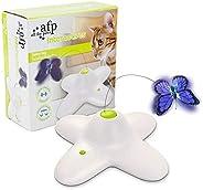 ALL FOR PAWS 蝴蝶猫玩具 互动蝴蝶虫猫蝴蝶玩具 flurtter zenes 猫玩具,趣味运动电动飘逸旋转小猫玩具,Pounce 猫玩具带蝴蝶替换