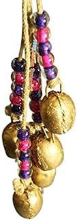 七海手工金色乡村风铃,串珠串串珠,风铃串珠再生金属质朴花园装饰室内户外