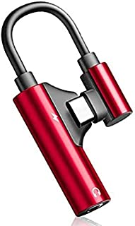 Tec-Digi USB Type C 至 3.5 毫米耳机插孔辅助音频适配器转换器电缆