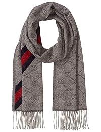 [GUCCI]圍巾 570603 3GB18 1466 GG圖案圍巾 75%羊毛25%羊駝 [平行進口商品]