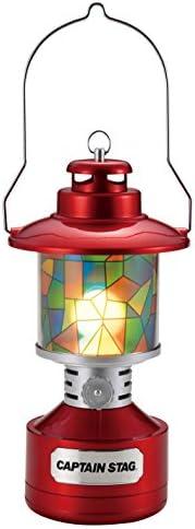 CAPTAIN STAG 鹿牌 野营 提灯 双灯 LED提灯 带彩绘玻璃风格贴纸