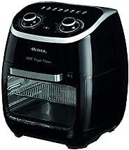Ariete 4619 空氣和烤箱炸鍋,11 升,多功能定時器,60 分鐘,可拆卸透明門,溫度80-200 OC,2000 W,黑色