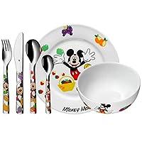 WMF 福腾宝 迪士尼米奇老鼠 儿童餐具 带儿童餐具 6 件套 3 岁以上 Cromargan 不锈钢抛光处理 洗碗机适用 不褪色 食品*