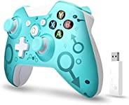 【2020*新版本】Xbox One无线控制器,W&O 无线电脑游戏手柄带2.4GHZ无线适配器,兼容Xbox One/One S/One X/P3主机/Windows 7/8/10