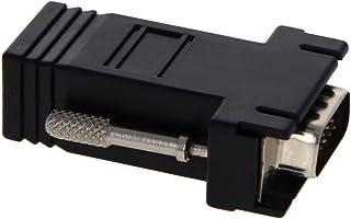 Heyiarbeit 15 针 3 排 D-SUB VGA 性别转换器 RJ45 到 DB15 迷你性别转换器耦合器适配器连接器适用于串行应用黑色 5 件