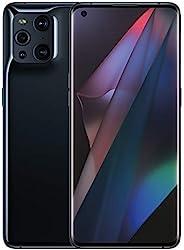 OPPO Find X3 Pro 5G - 12GB RAM 和 256GB 存储 SIM 免费智能手机(6.7 英寸,双 50MP 四摄像头,Snapdragon 888 处理器,双 SIM) - 黑色