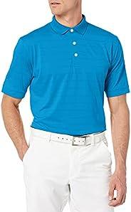 Callaway 男式短袖 Opti-Dri 高尔夫 Polo 衫 中度蓝 中
