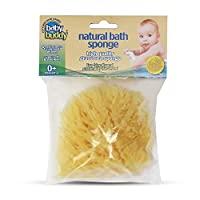 BABY BUDDY 天然婴儿沐浴海绵,柔软,可生物降解,低过敏性,吸水天然海棉,1个,4英寸