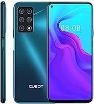 CUBOT X30 无锁智能手机 (8GB+128GB)带 6.4 英寸 FHD+ 显示屏,五个 Al 摄像头,Android 10,4200mAh 电池,4G 双 SIM 手机(渐变*)