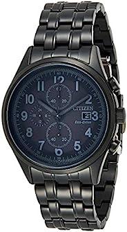 Citizen CA0625-55E Men's Chandler Matte Black Dial Eco-Drive Chrono Black IP Steel Bracelet W