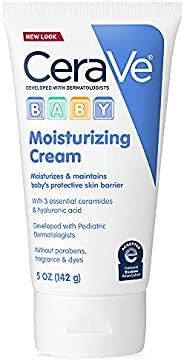 CeraVe 婴儿霜| 玻尿酸温和保湿霜| 不含对羟基苯甲酸酯,硫酸盐和香料| 5盎司/142克