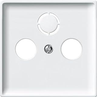 Merten System Fläche *板用于天线插座极地白色 294119