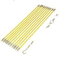 Aeloa 4 毫米玻璃纤维线缆电线电鱼胶带拉拉和推送套件(10 件)
