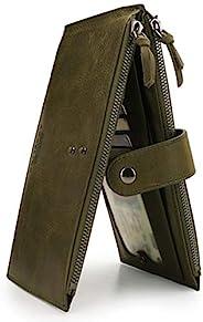 Otto Angelino 真皮双隔层双折钱包,手机兼容插槽 - RFID 屏蔽