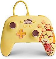 Nintendo Switch PowerA 增强型有线控制器 - Animal Crossing: Isabelle,Nintendo Switch Lite,游戏手柄,游戏控制器,有线控制器,官方* - Ninten