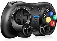 WHENOW Pro 控制器,适用于 Nintendo Switch/Switch Lite 的无线控制器,带涡轮、动作、振动功能,远程Joypad 控制器,复古迷你设计。