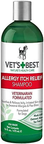 Vet`s Best Allergy Itch Relief Dog Shampoo 16 Ounces New 16盎司