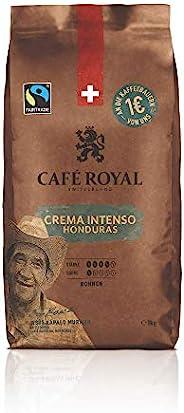 洪都拉斯皇家咖啡厅 Crema Intenso 豆咖啡 1kg-公平贸易-强度 4/5-来自洪都拉斯的 100% 阿拉比卡