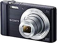 索尼 DSC-W810 黑色数码相机(2,010 万像素,6 倍光学变焦(12 倍数字变焦),6.8 厘米(2.7 英寸)液晶显示屏,26 毫米广角镜头,SteadyShot)