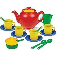 Kidzlane 玩耍茶具,15+ 耐用塑料部件,不含 BPA,适合儿童茶会和玩乐