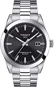 Tissot 男式绅士瑞士自动不锈钢正装手表(型号:T1274071105100)