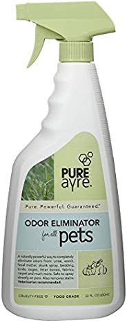 PureAyre – Natural Plant-Based Pet Odor Eliminator – Pure, Powerful, and Completely Safe – 22 Ounces
