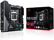 ASUS 华硕 ROG Strix Z490-I Gaming Z490 ( WiFi 6 ) LGA 1200 ( Intel * 10 代 ) Mini-ITX 游戏主板 8+2 电源阶段,DDR4 4800,Int
