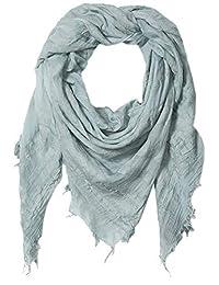 Emporio Armani 安普里奥·阿玛尼女式条纹方形围巾,带流苏细节