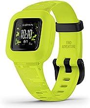 GARMIN 佳明 Vivofit jr.3. 儿童健身追踪器,包括互动应用程序体验,适合游泳,电池寿命长达 1 年,数位迷彩,可调节手表 (010-02441-20)
