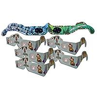 圣誕 3D 眼鏡 - 假日* (R) 泰迪熊眼鏡 6 對不同裝 - 5 個圣誕樹眼鏡和 1 個圣誕節/新年煙花眼鏡 - 全部折疊,隨時可佩戴