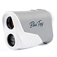 Blue Tees 高尔夫系列 2 巡回激光测距仪 - 距离探测器,800 码范围,6X 放大,旗帜锁脉冲振动,无斜度