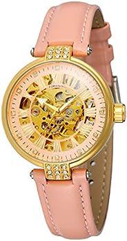 Forsining 女式自动上弦模拟时尚表盘皮革表带手表