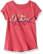 Nautica 诺帝卡 女童短袖图案 T 恤