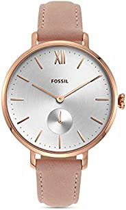Fossil 女式 Kayla ES4572 白色皮革石英时尚手表