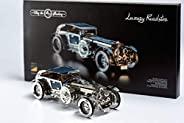 模型汽车套件 - 3D 模型套件豪华跑车 - 移动上链复古汽车模型 3D 拼图 - 成人3D 拼图 - 蒸汽朋克汽车模型移动上链汽车模型 3D 拼图 适合成人