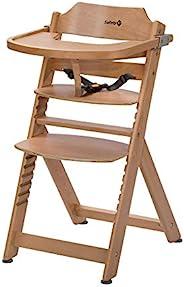 Safety 1st Timba 高脚椅,伴随宝宝成长,由实心山毛榉木制成,适合6个月至约10岁的儿童(重30kg)榉木,天然木(棕色)