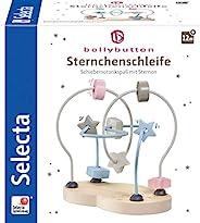 Selecta 64019 小星星磨环 Bellyutton 木制运动技能玩具 18 厘米 彩色